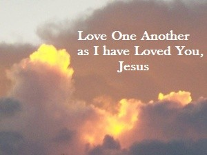 Love one another, Jesus